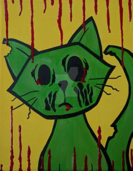 Zombie Cat by ToniTiger415
