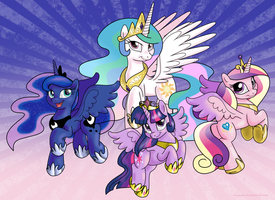 Alicorn Princesses by BSWPrecious