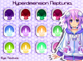 MMD Hyperdimension Neptunia Eye Texture by Xoriu