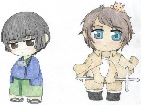 APH - Japan and Greece by Misaki-chama