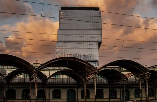 view on architecture from the train station by azabek