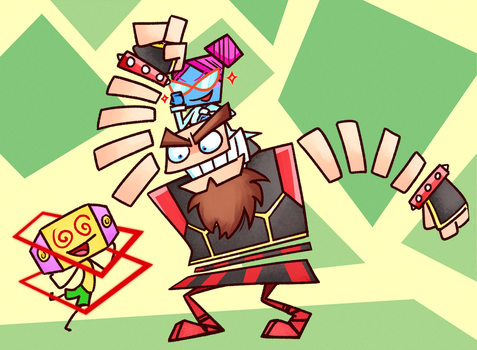 Brains and Brawn [Super Paper Mario] by Altermentality