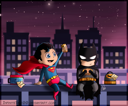 Clark and Bruce - Lunchtime by InfiniteTale00