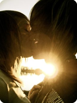 kiss by oursilhouettes