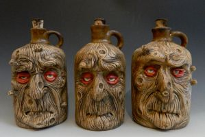 Wooden Men Jugs by thebigduluth