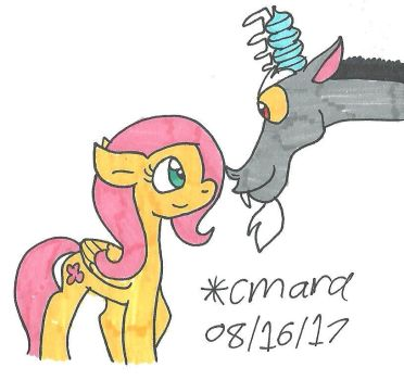 Fluttershy and Discord by cmara