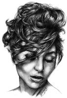 The Girl in Graphite by ReneCampbellArt