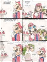 Mario's cherry addiction by kingofthedededes73