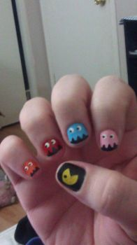 Pacman Nails by Gippaloo