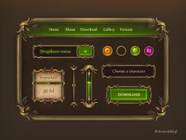 Game GUI - gui set for a game by brainchilds