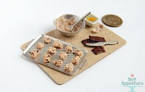 1:12 Chocolate Chip Cookie Prep Board by Bon-AppetEats