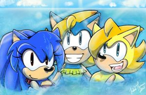 .:REQUEST:. Swimming in the Blue by SonicFF