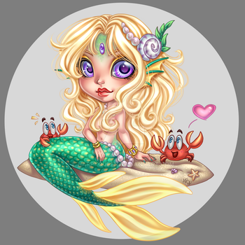 little miss Mermaid by Harpyqueen