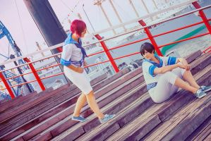 Free! Rin and Haruka by Amapolchen