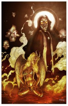 Satanic Hell #2 Cover by kevinenhart