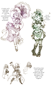 Shantae sketches by twisted-wind