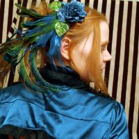 Peacock Glitter Hair Comb by SteamSociety