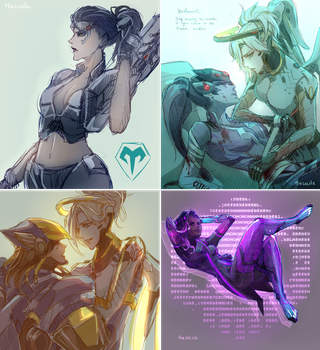Collage OVW sketches by TheCecile