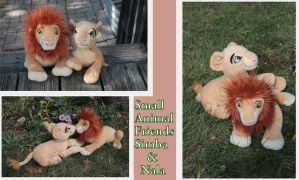Small Animal Friends adult Simba and Nala by Laurel-Lion