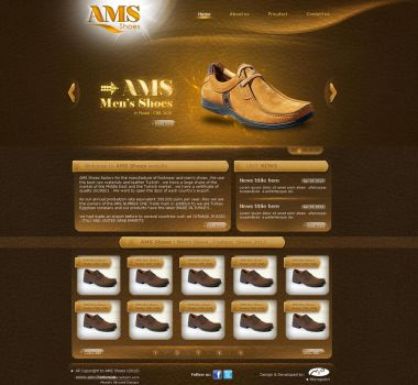 AMS Shoes Website by tifa96