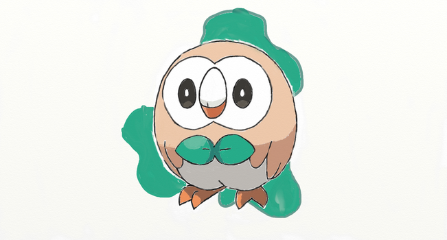 Alola Pokedex #1 Rowlet by sketchbase