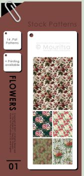 Pattern Pack - Flowers by MouritsaDA-Stock