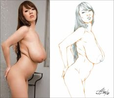 HITOMI TANAKA SIDE2SIDE 1 by Artistik-Bootya