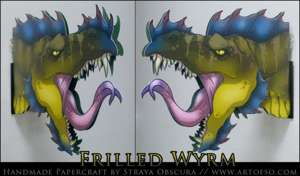 Frilled Wyrm by StrayaObscura