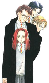 The Marauders, + Lily - Peter by lillithium