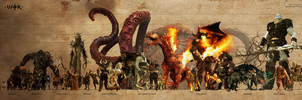 Rise of the Fantasy Beings by warofragnarok