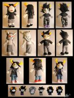 Homestuck Troll plushies by Eyes5
