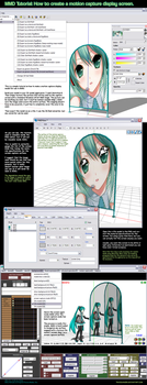 MMD Tutorial-How to model a screen capture display by Trackdancer