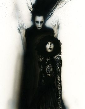 Sandman and death by menton3