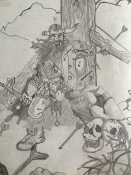 Dwarf warrior by angrybuddhist