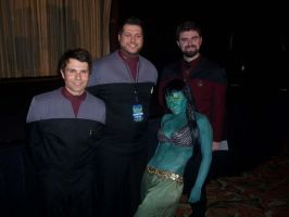 Three Rikers, and One Orion Slave Girl. by TreeVor
