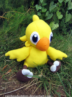 Commission:  Chocobo fanplush by Rainbowbubbles