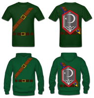 LOZ Link Mirror Shield Costume Shirt Hoodie by Enlightenup23