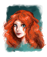 Merida Portrait by RedTallin