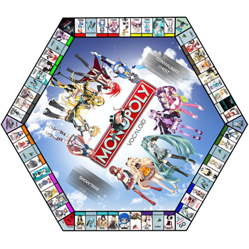 VOCALOID MONOPOLY Game by ArminMin