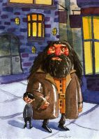 Harry and Hagrid by mrsorrentino