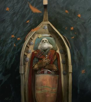 Lord Hoster Tully last voyage by SvetoslavPetrov