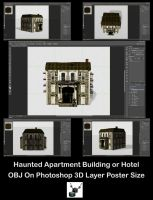 Haunted Hotel or Apartment Building by ArthurRamsey