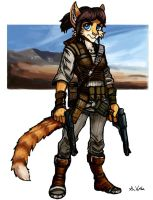 Cat Gunslinger by TheLivingShadow
