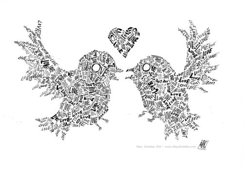 Love Birds by MaryDoodles