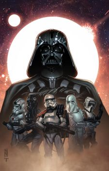 Lord Vader and his troops by juan7fernandez
