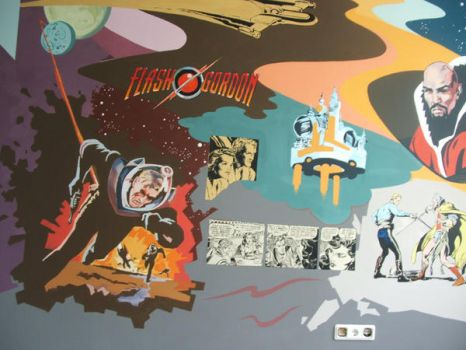 Flash Gordon wallpaint by ml26