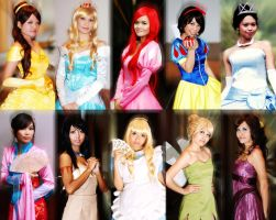 Disney Heroines Cosplay by tabeck