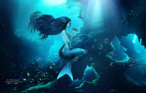 Bleu mermaid by annemaria48