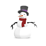 snowman vector icon by zpecter