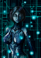 Cortana art (Halo) by FairyFaily